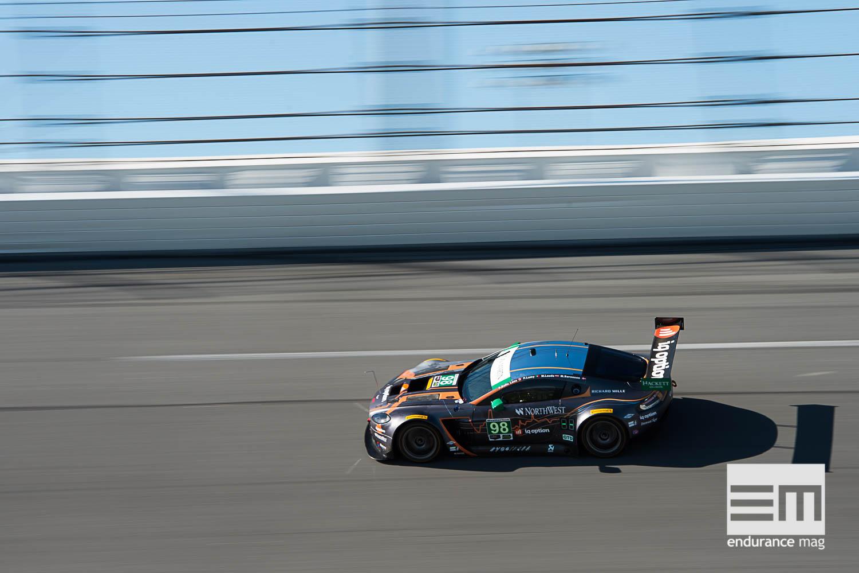Sur le banking, les GTD ont des vitesses de pointe proches des GTLM (Photo Aston Martin Racing)