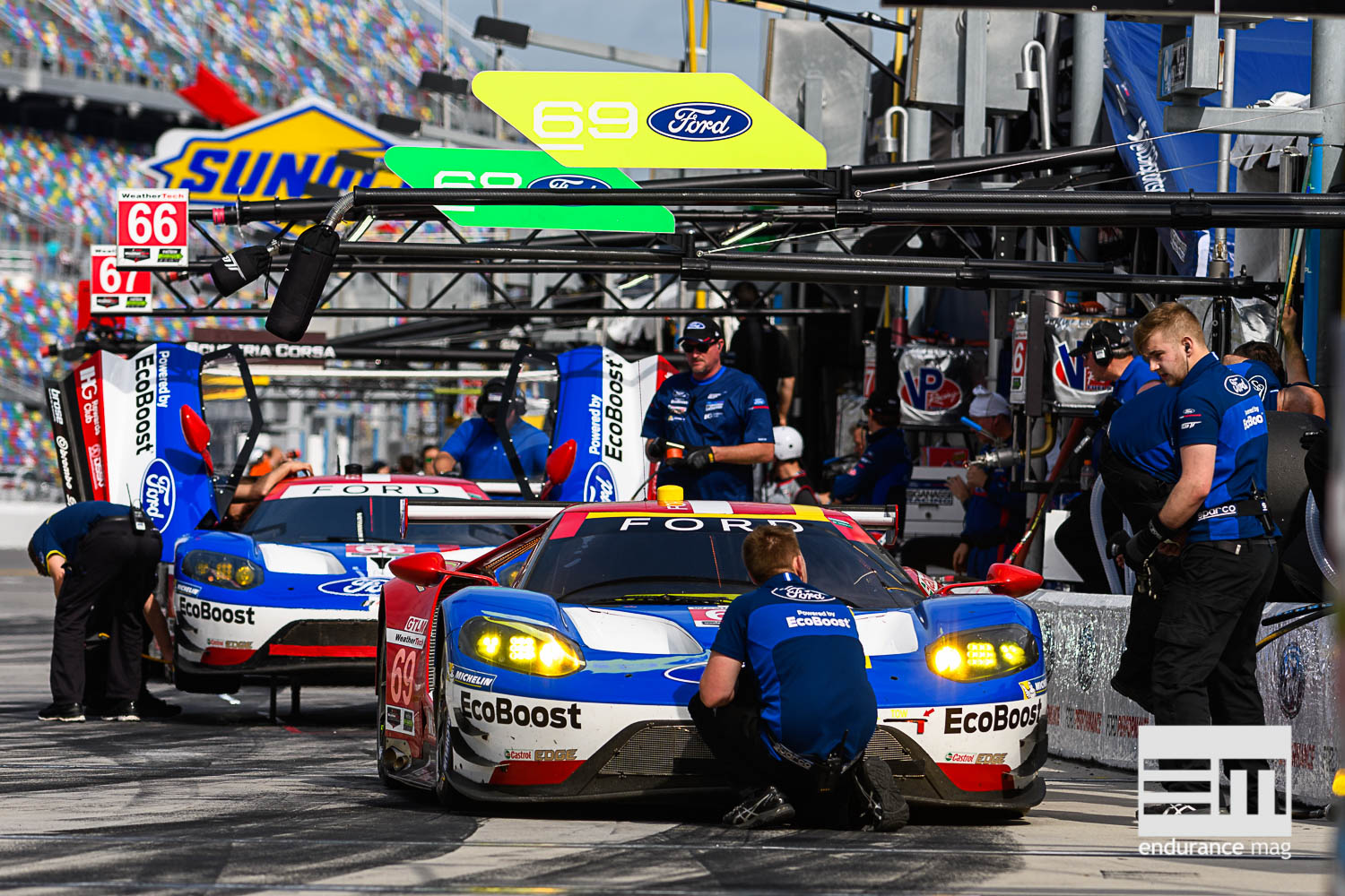 Ford domine le GTLM avec un triplé (Photo : Ford Performance)