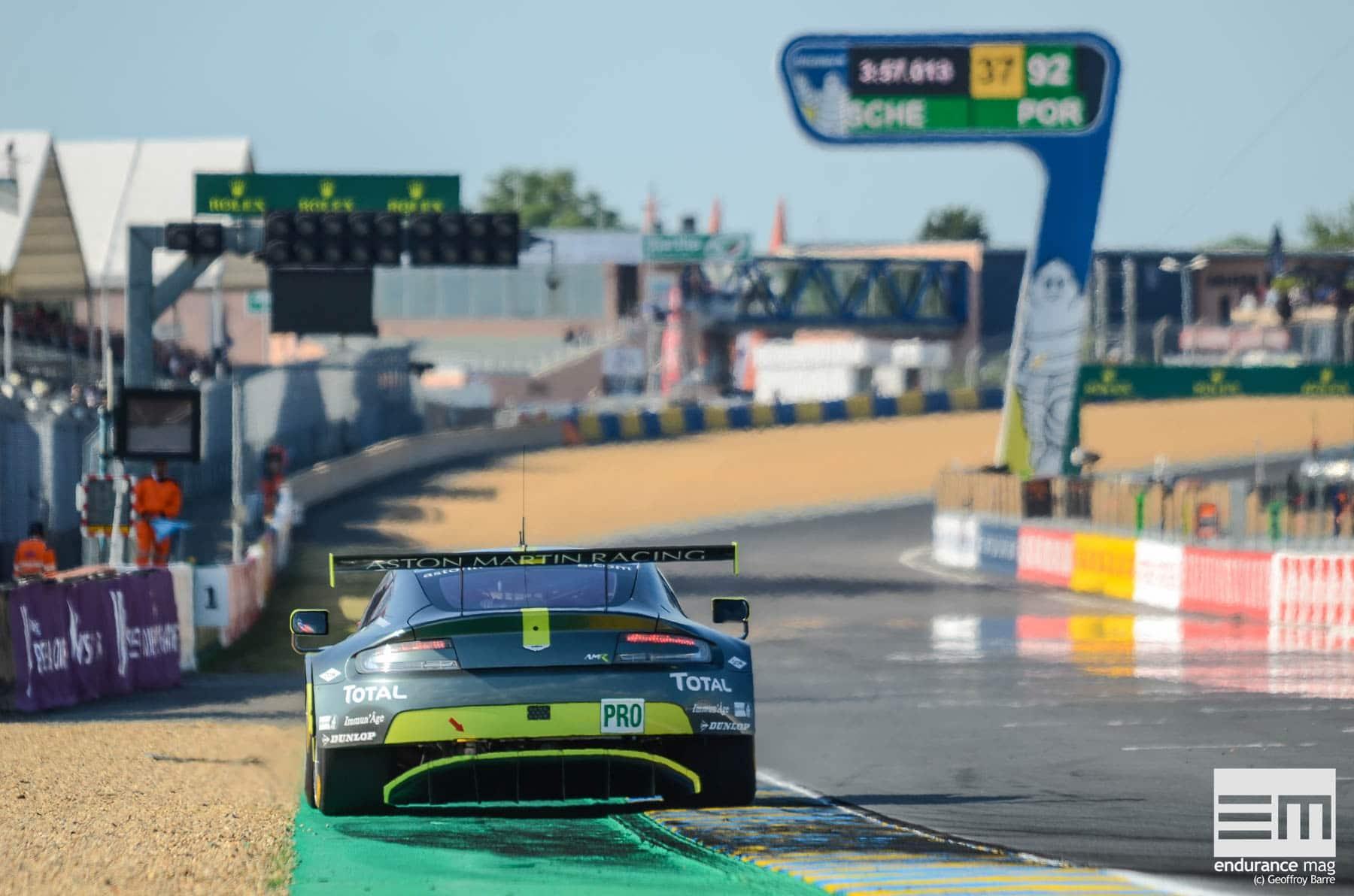 """2017 marquait la dernière apparition de la Vantage V8 au Mans en LMGTE Pro, avant une remplaçante qui devrait """"casser les codes""""."""