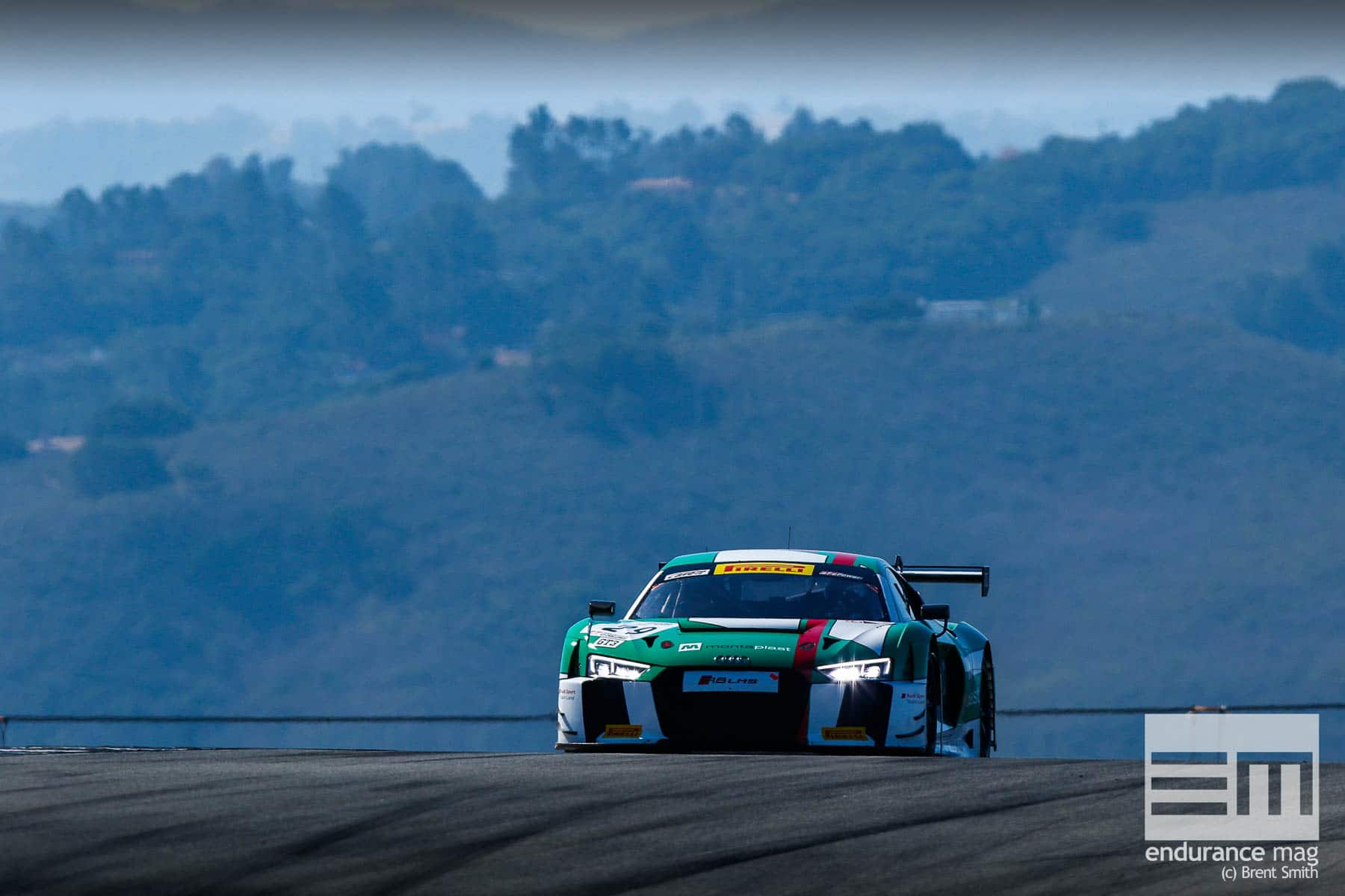 California 8 Hours - Intercontinental GT Challenge - Mazda Raceway Laguna Seca - 29 Audi Sport Team Land, Connor de Phillippi, Christopher Mies, Christopher Haase, Audi R8 LMS