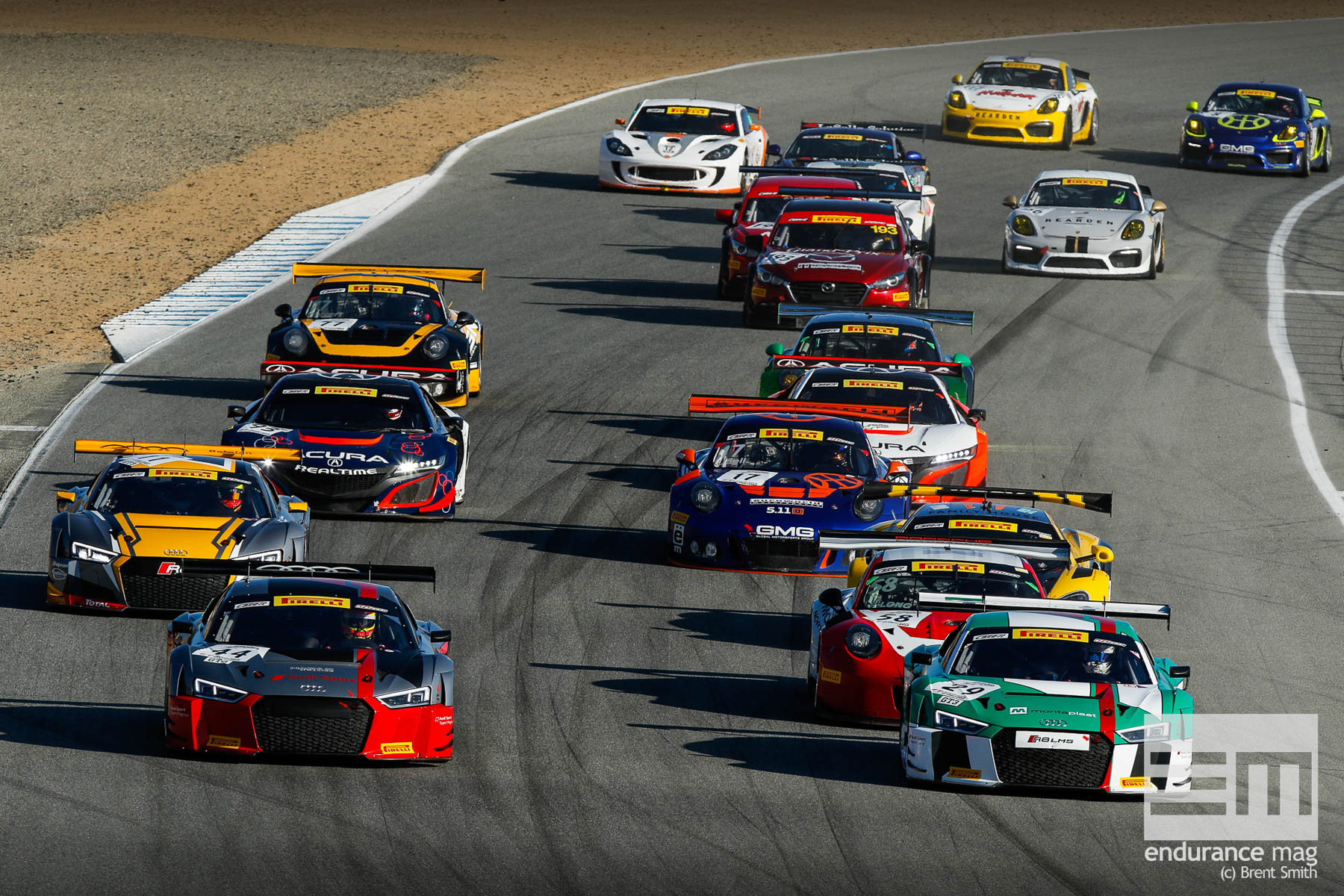 California 8 Hours - Intercontinental GT Challenge - Mazda Raceway Laguna Seca - Start