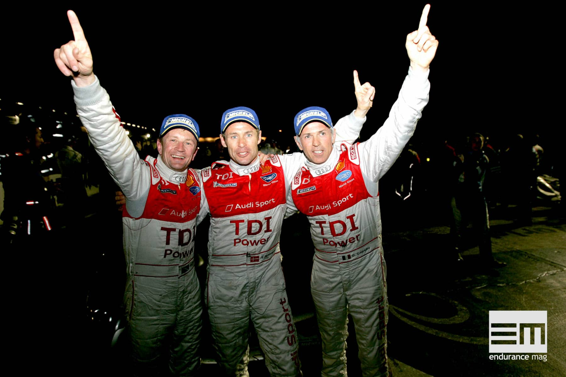 Allan McNish, Tom Kristensen, Dindo Capello