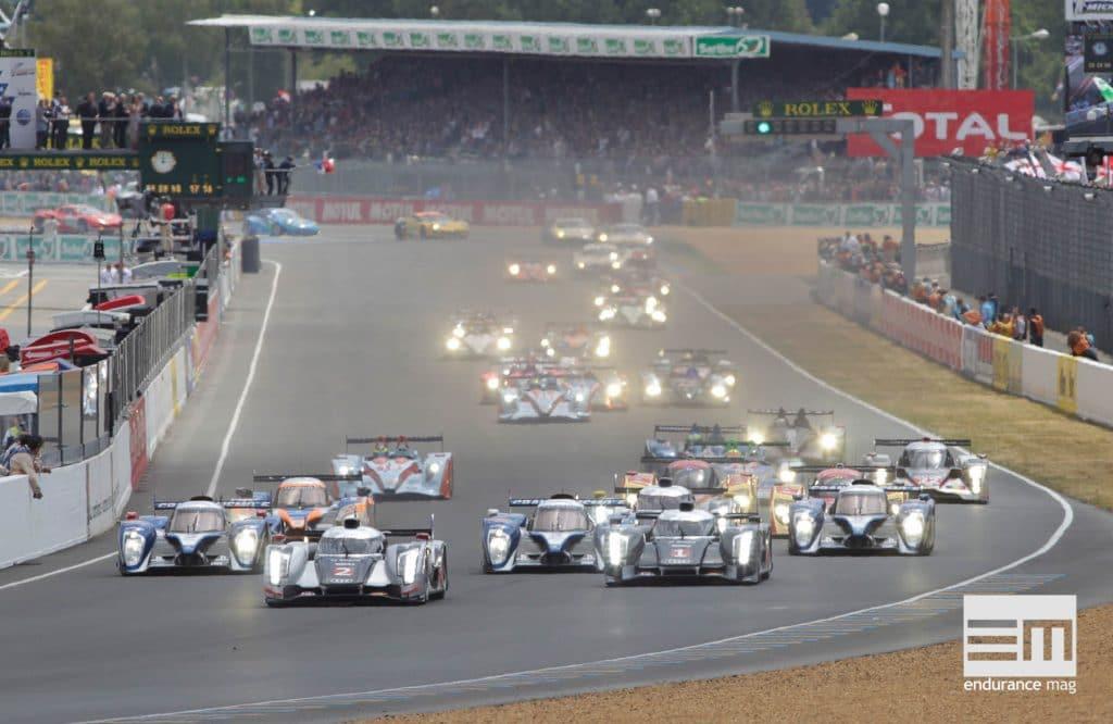 Départ 24 Heures du Mans 2011 Audi R18 2011