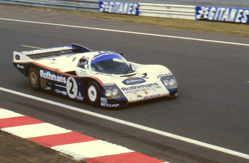 Le Mans 1985, Porsche 962C officielle Bell / Stuck - photo Jerry Lewis-Evans