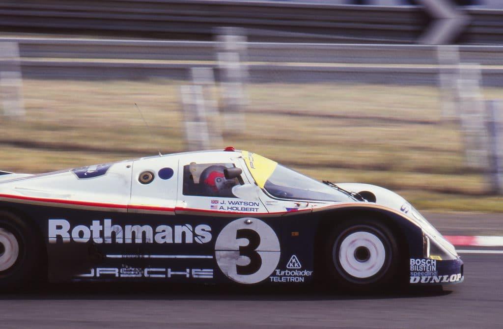 Frappée du n°3, la 962C de Al Holbert, Vern Schuppan et John Watson abandonnera - photo Jerry Lewis-Evans