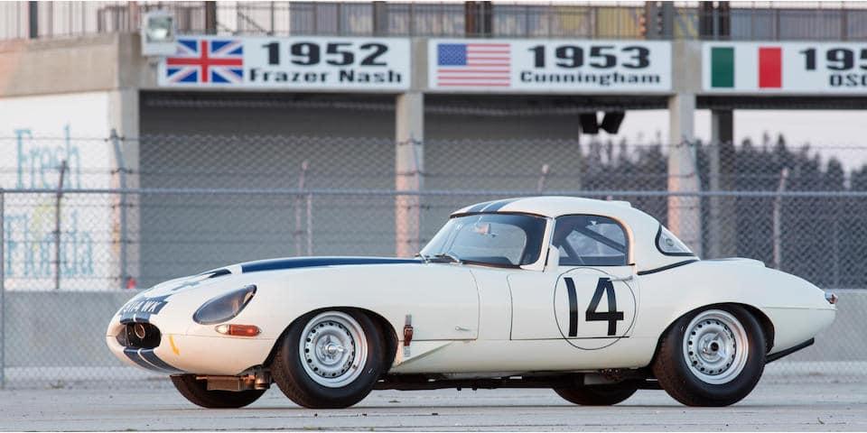 Jaguar Type E Lightweight aux couleurs Cunningham - photo Bonhams